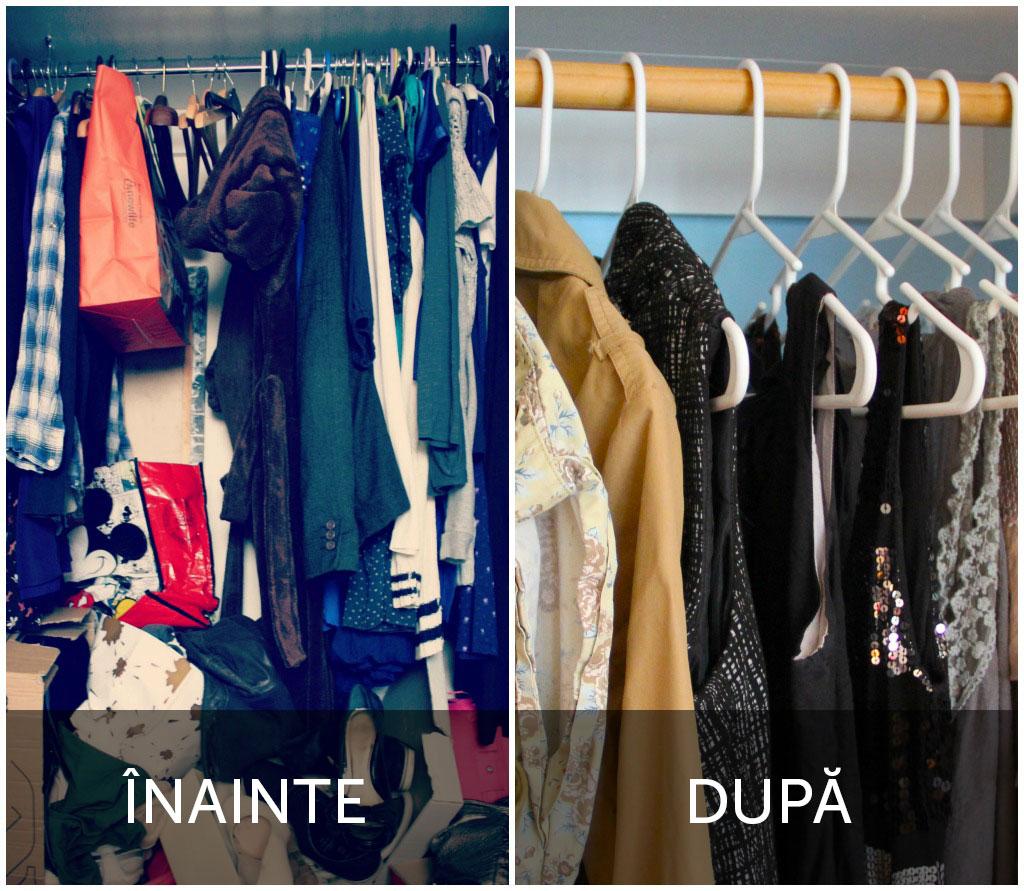 Foto: Garderoba: Înainte și După