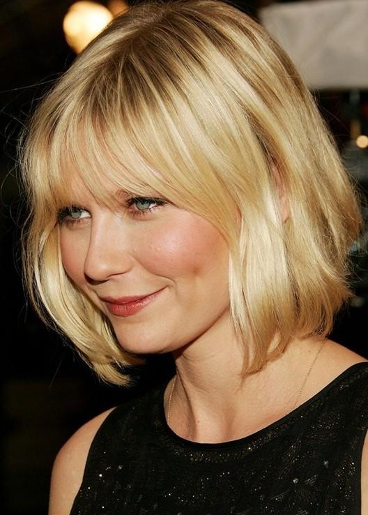 Kirsten-Dunsts-Short-Hairstyles-Layered-Wavy-Bob